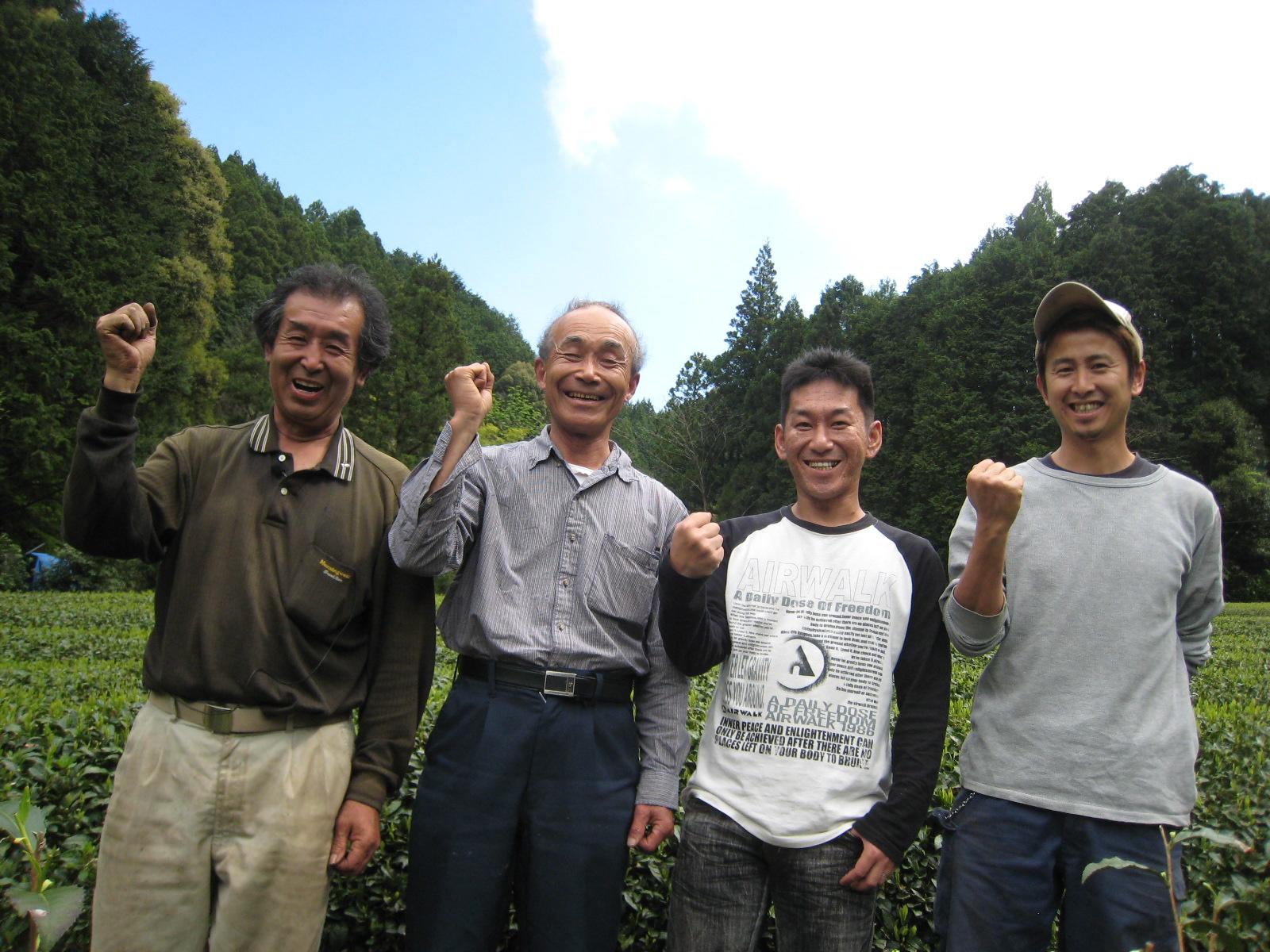 Members of the Shizuoka Organic Tea Farmers Union