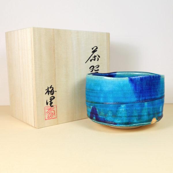 Japanese Large Turquoise Matcha Bowl