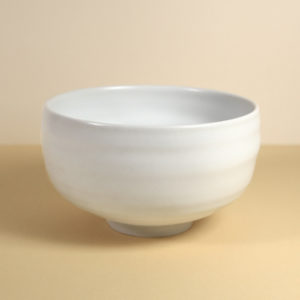 Vintage Matcha Bowl - White Porcelain