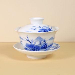 Chinese Blue & White Porcelain Gaiwan