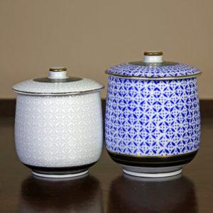 Blue & White Lidded Teacups