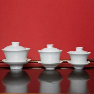 White Bone China Gaiwans
