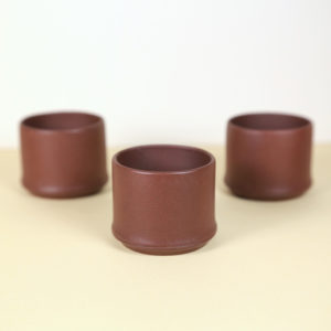 Small Yixing Chinese Teacups - set of 3