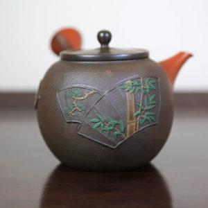 Tokoname Teapot with Pine, Bamboo and Plum