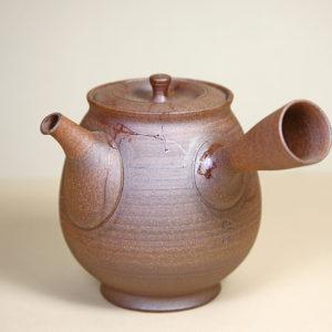 Tokoname Tall Mogake Teapot with Dimple