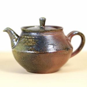 Tokoname C-Handle Green & Copper Glazed Teapot